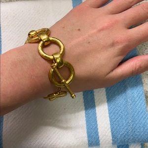Julie Vos gold plated link bracelet